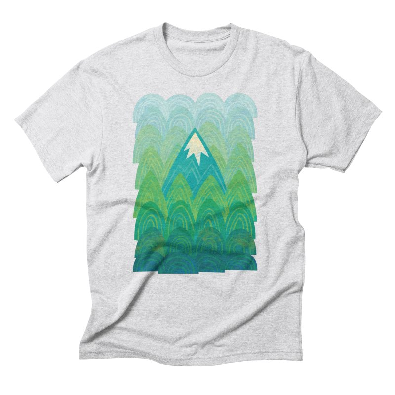 Towering Mountain Men's Triblend T-Shirt by Waynem