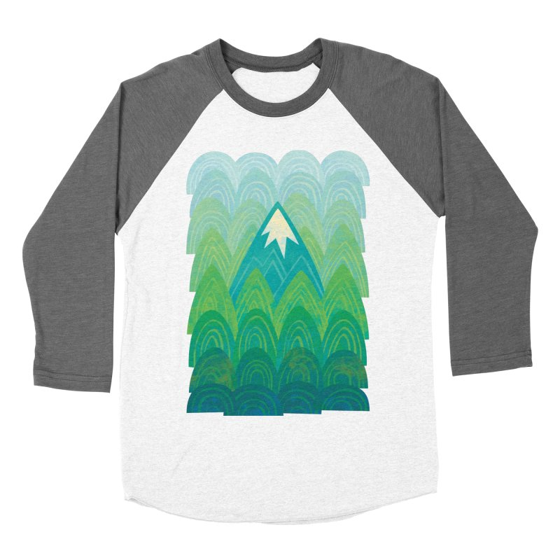 Towering Mountain Women's Baseball Triblend Longsleeve T-Shirt by Waynem