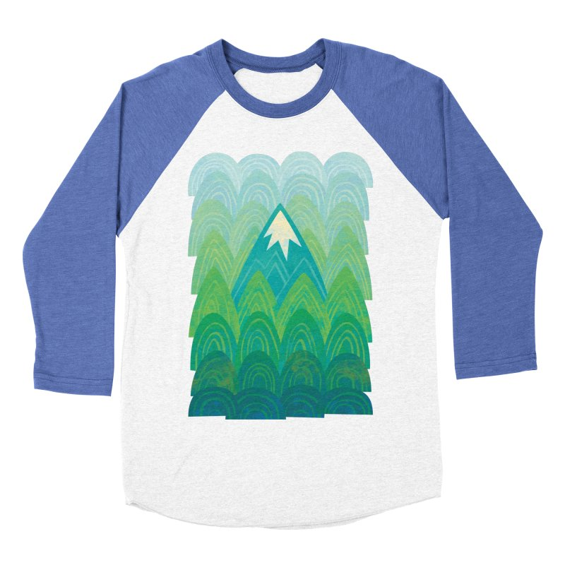 Towering Mountain Men's Baseball Triblend Longsleeve T-Shirt by Waynem