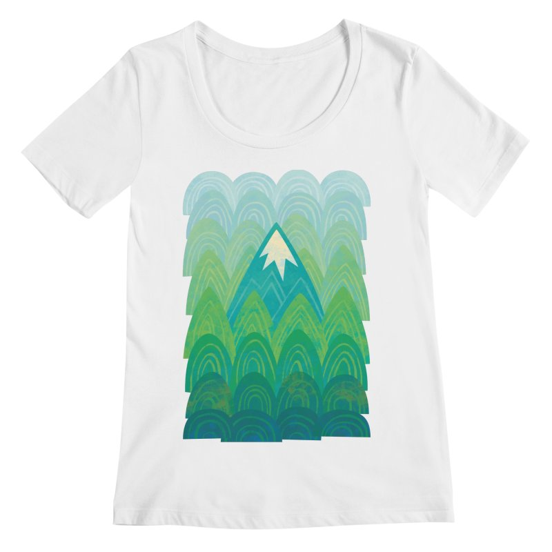 Towering Mountain Women's Regular Scoop Neck by Waynem