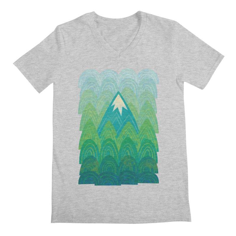 Towering Mountain Men's Regular V-Neck by Waynem