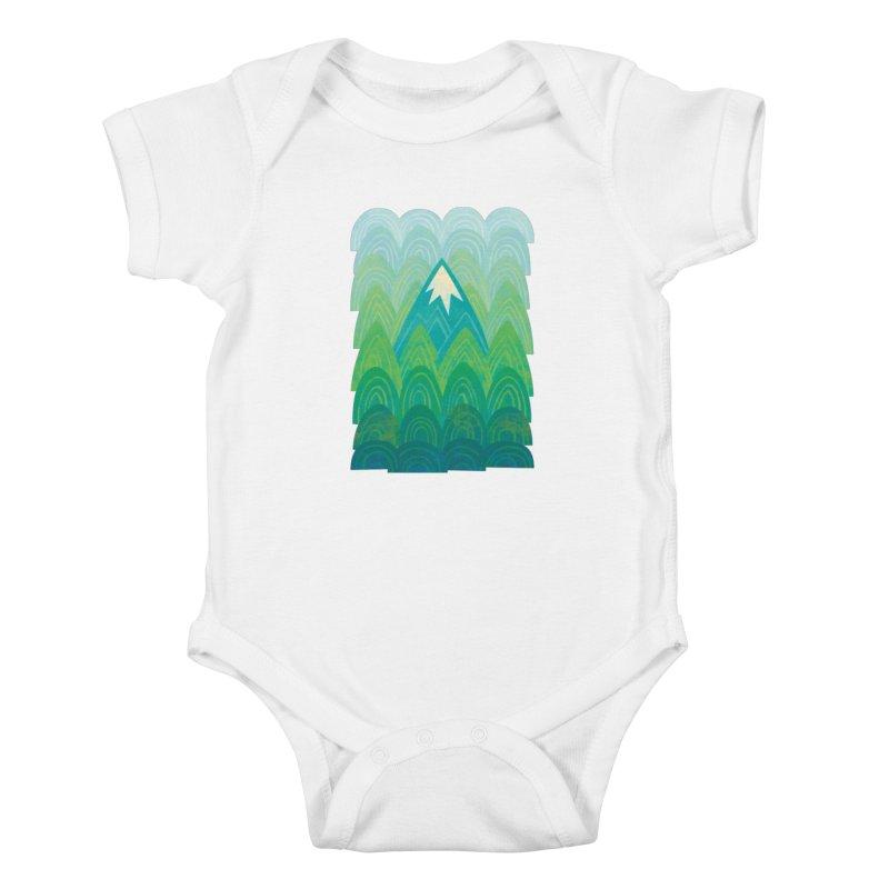 Towering Mountain Kids Baby Bodysuit by Waynem
