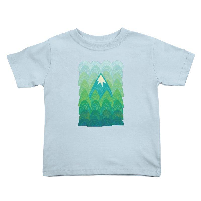 Towering Mountain Kids Toddler T-Shirt by Waynem