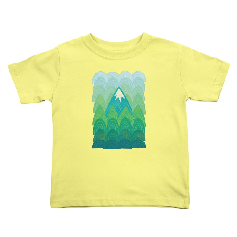 Towering Mountain Kids Toddler T-Shirt by Waynem