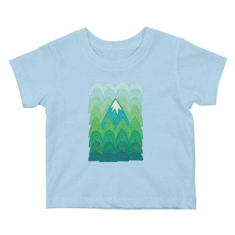 Towering Mountain Kids Baby T-Shirt by Waynem
