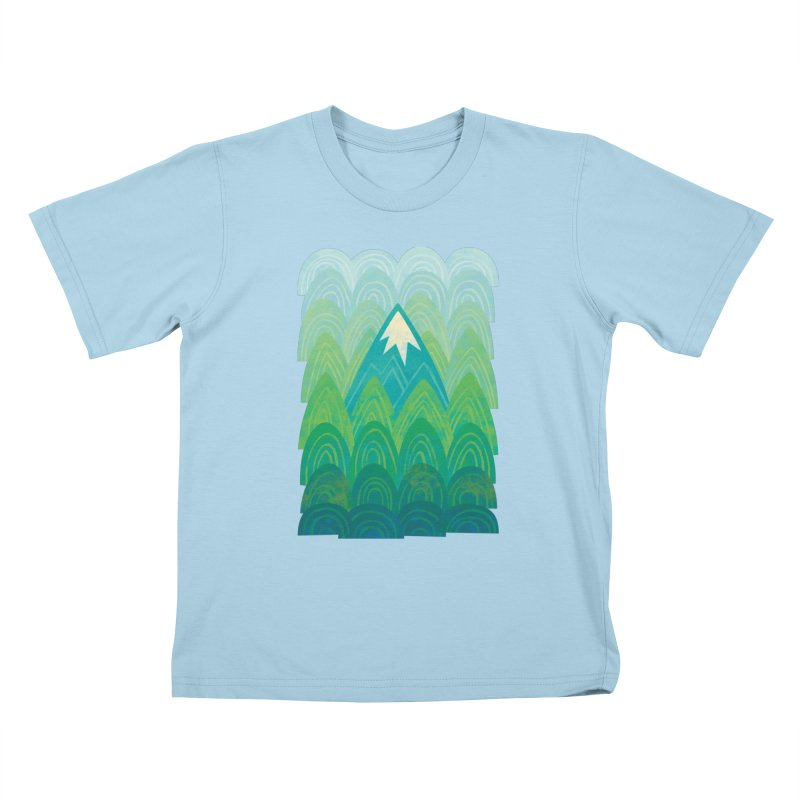 Towering Mountain Kids T-Shirt by Waynem