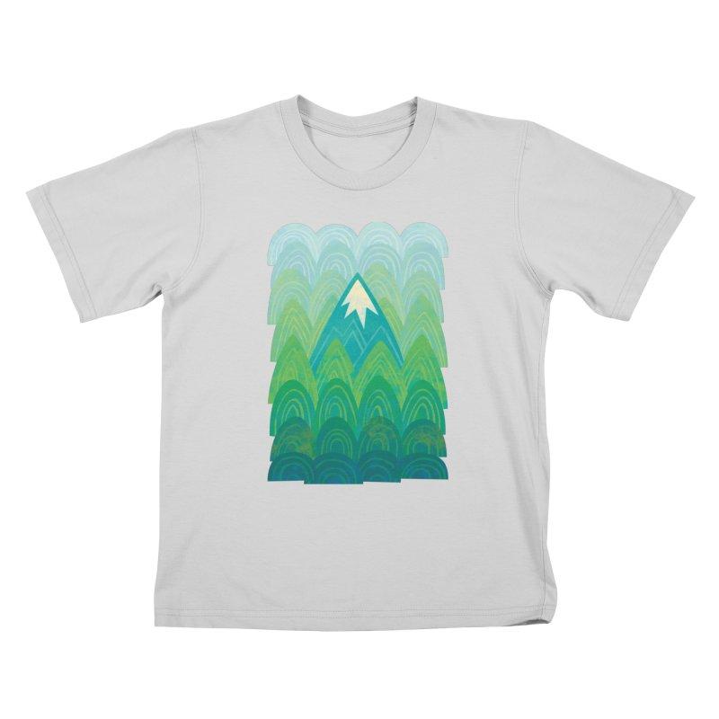 Towering Mountain Kids T-Shirt by Waynem