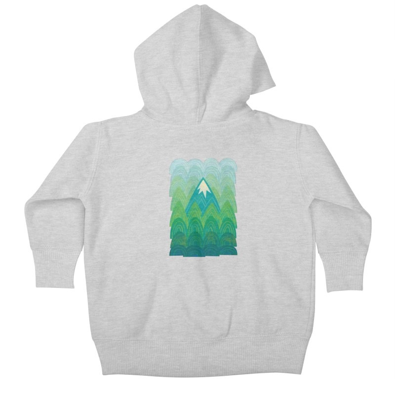 Towering Mountain Kids Baby Zip-Up Hoody by Waynem