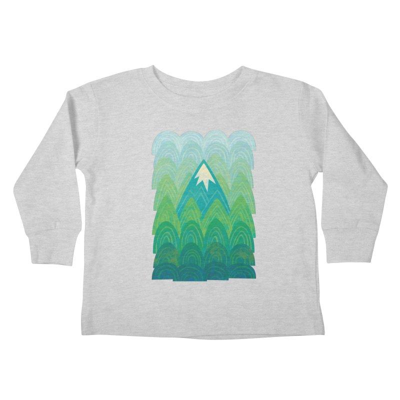 Towering Mountain Kids Toddler Longsleeve T-Shirt by Waynem