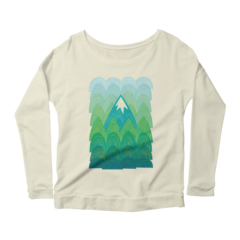Towering Mountain Women's Scoop Neck Longsleeve T-Shirt by Waynem
