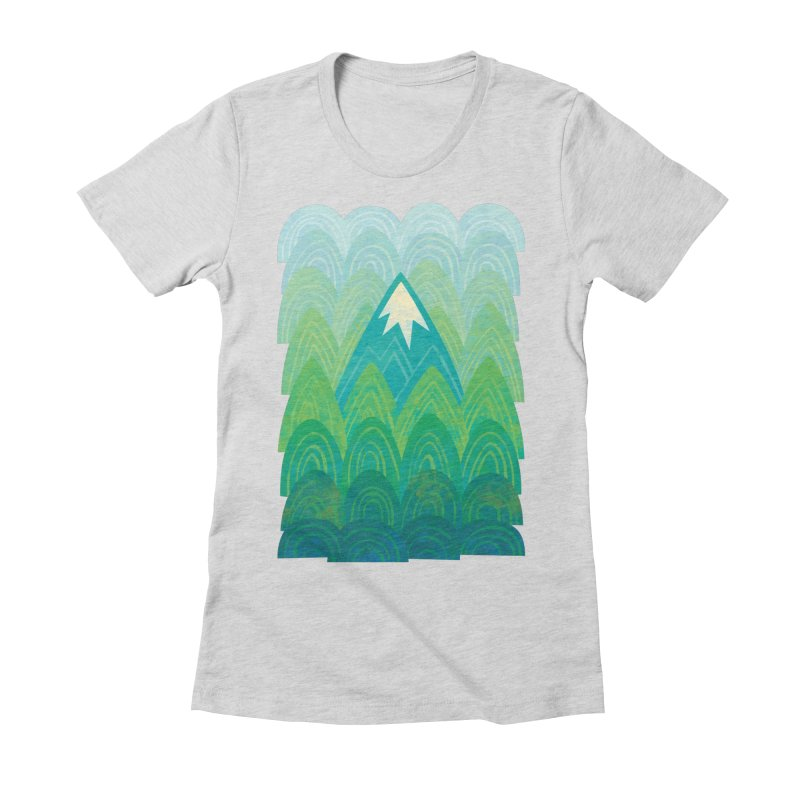 Towering Mountain Women's Fitted T-Shirt by Waynem