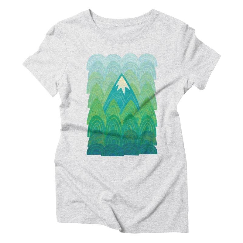 Towering Mountain Women's Triblend T-Shirt by Waynem