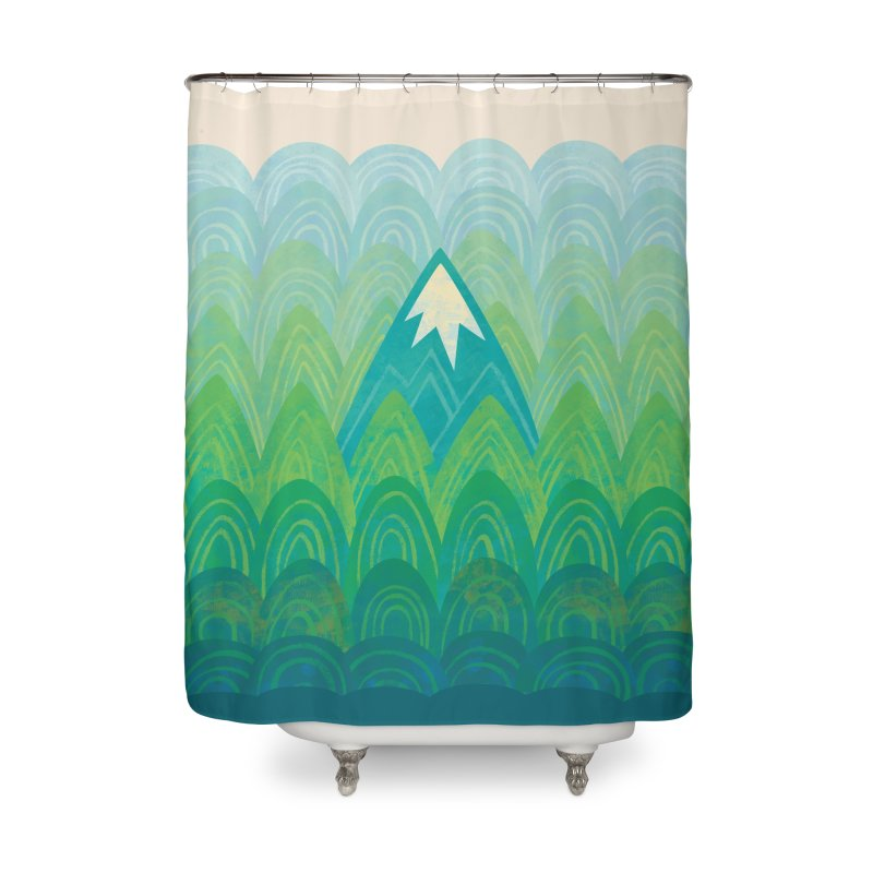 Towering Mountain Home Shower Curtain by Waynem