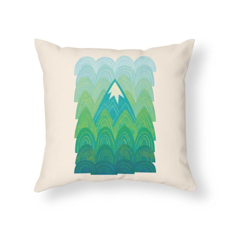 Towering Mountain Home Throw Pillow by Waynem
