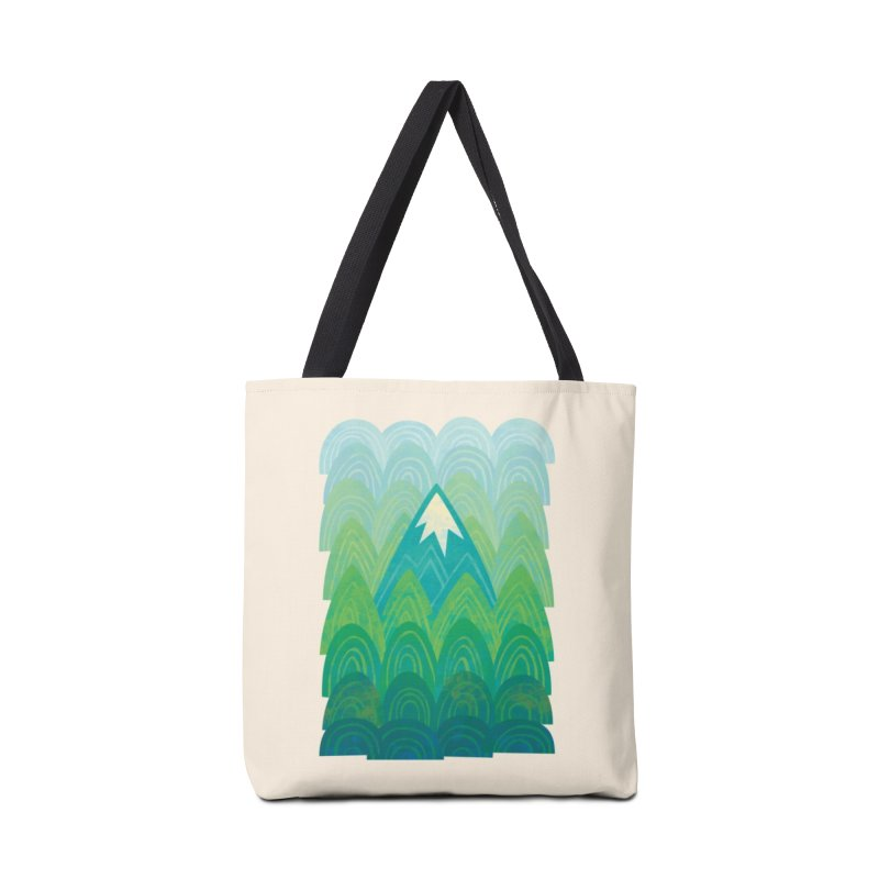 Towering Mountain Accessories Tote Bag Bag by Waynem
