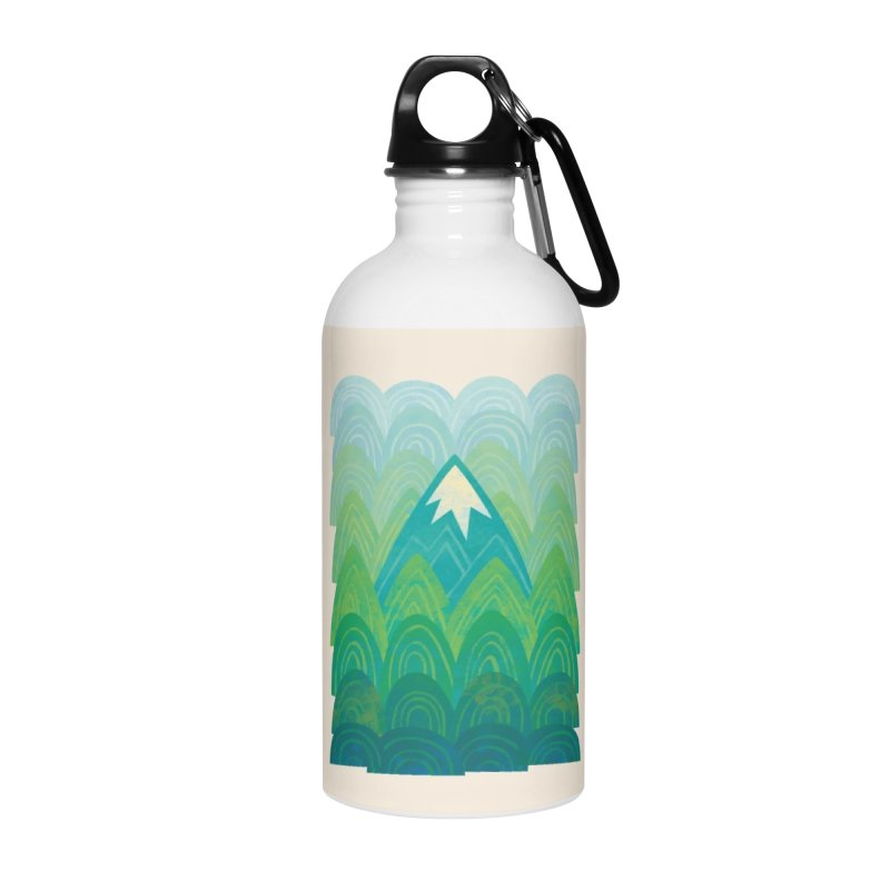Towering Mountain Accessories Water Bottle by Waynem