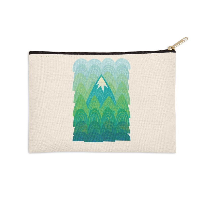 Towering Mountain Accessories Zip Pouch by Waynem