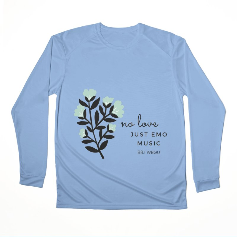 no love, just emo music Men's Longsleeve T-Shirt by WBGU-FM's Shop