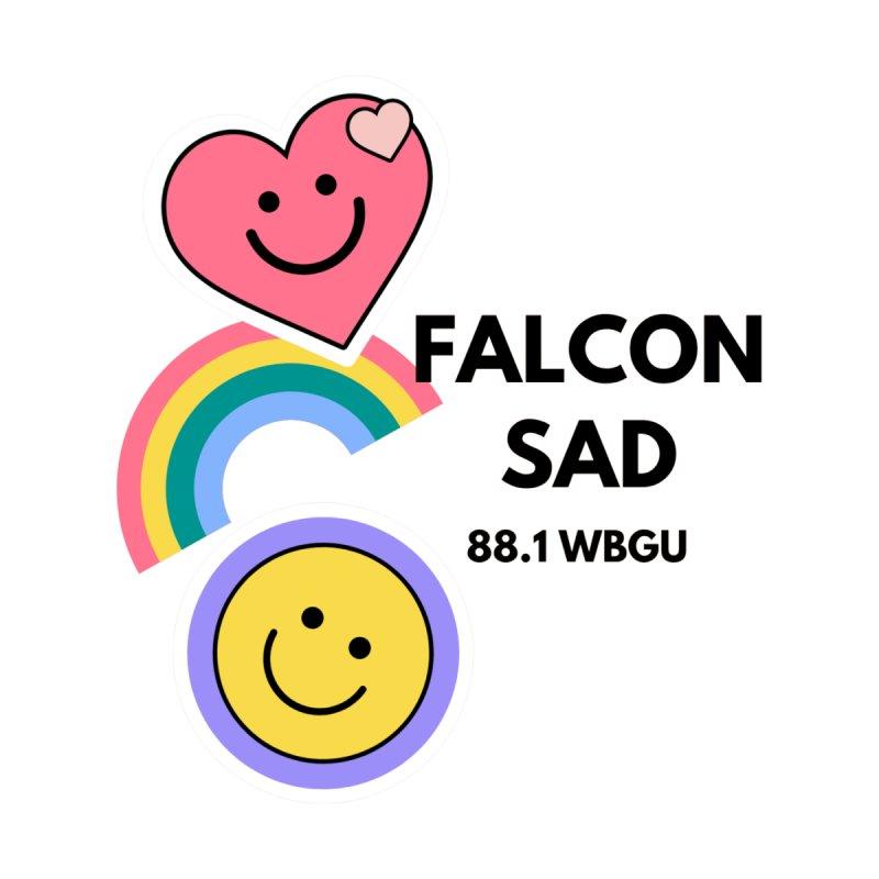 Falcon Sad with Stickers Women's Zip-Up Hoody by WBGU-FM's Shop