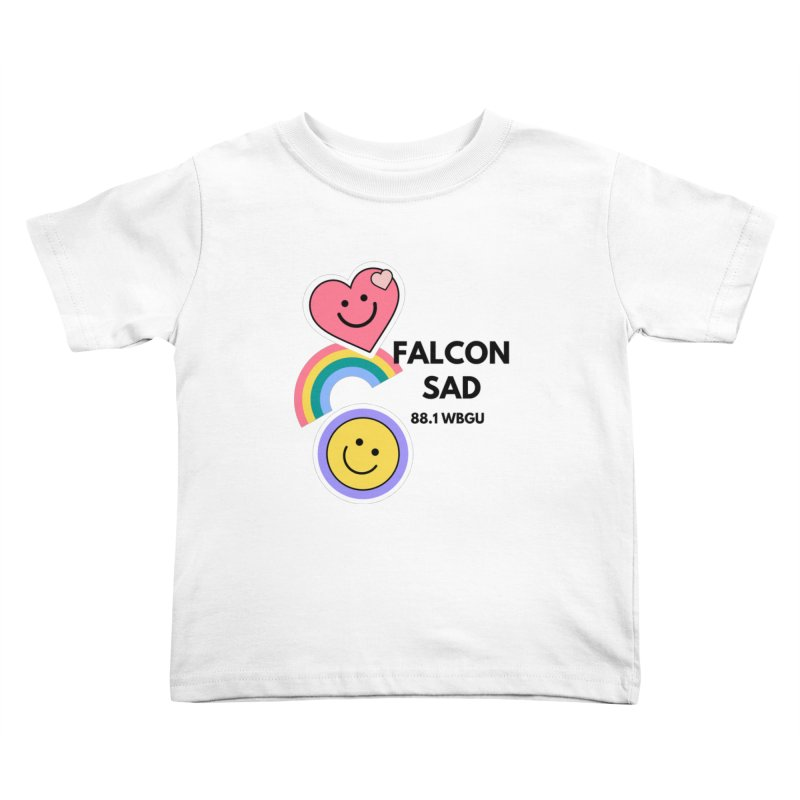 Falcon Sad with Stickers Kids Toddler T-Shirt by WBGU-FM's Shop