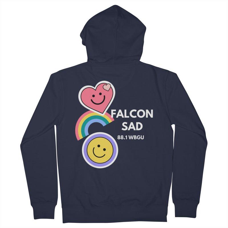 Falcon Sad Stickers Women's Zip-Up Hoody by WBGU-FM's Shop