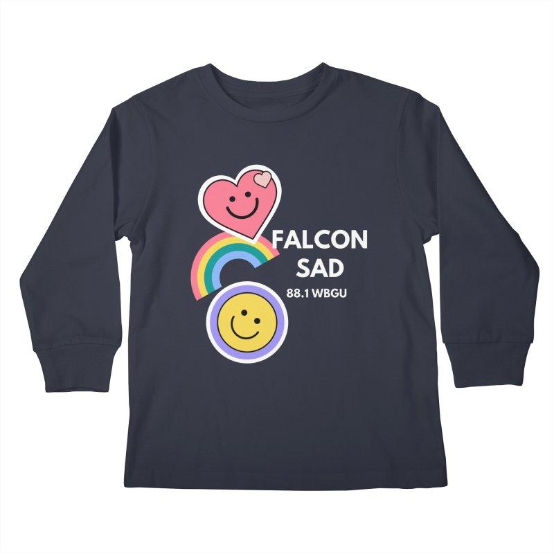 Falcon Sad Stickers Kids Longsleeve T-Shirt by WBGU-FM's Shop