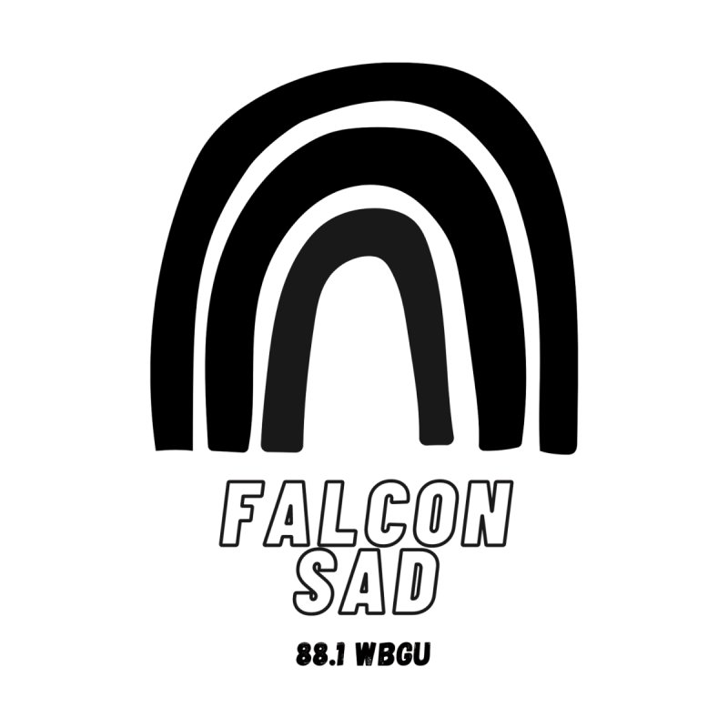 Falcon Sad Rainbow Women's V-Neck by WBGU-FM's Shop