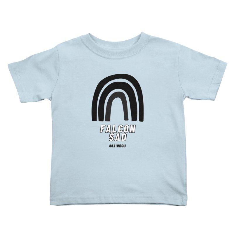 Falcon Sad Rainbow Kids Toddler T-Shirt by WBGU-FM's Shop