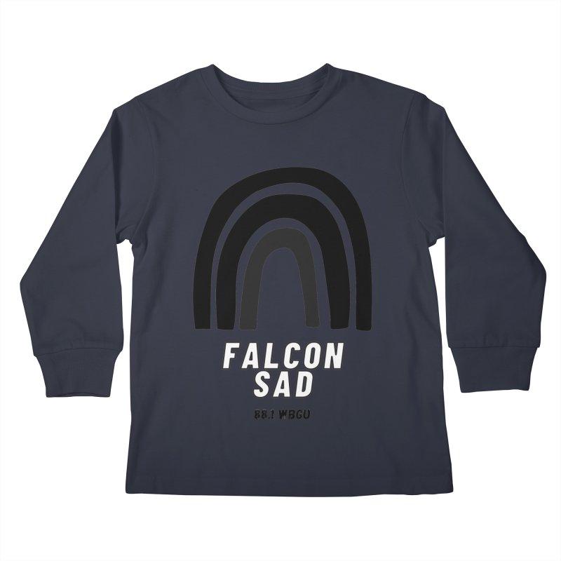 Falcon Sad Rainbow Kids Longsleeve T-Shirt by WBGU-FM's Shop