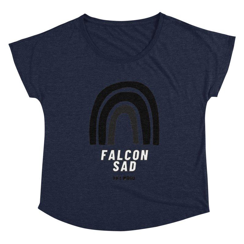 Falcon Sad Rainbow Women's Scoop Neck by WBGU-FM's Shop