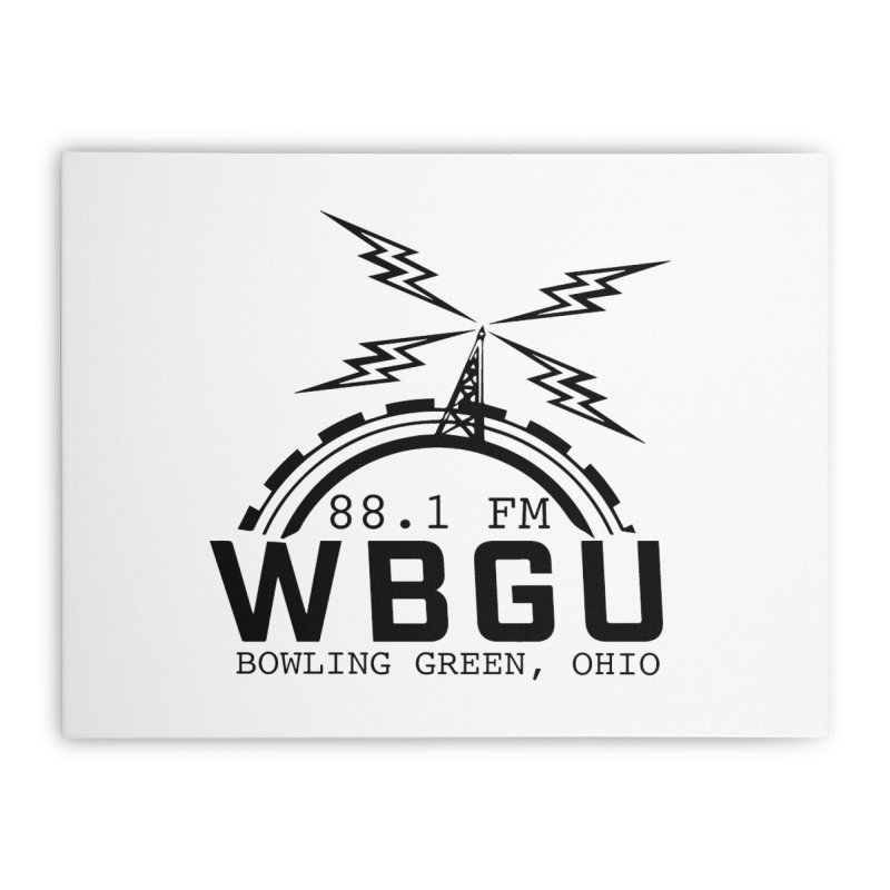 2018 Logo Home Stretched Canvas by WBGU-FM's Shop