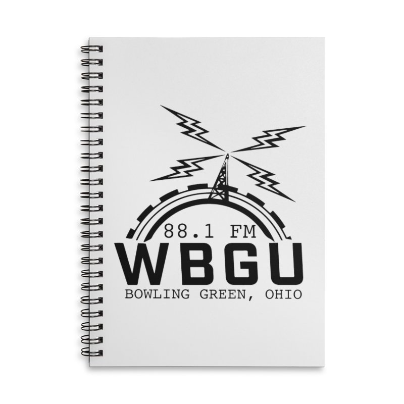 2018 Logo Accessories Lined Spiral Notebook by WBGU-FM's Shop