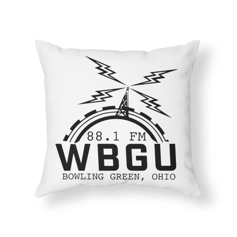 2018 Logo Home Throw Pillow by WBGU-FM's Shop