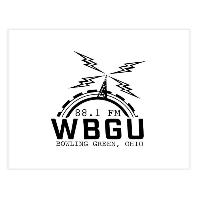 2018 Logo Home Fine Art Print by WBGU-FM's Shop