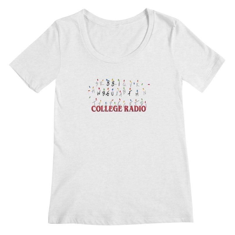 Stranger Radio Women's Regular Scoop Neck by WBGU-FM's Shop
