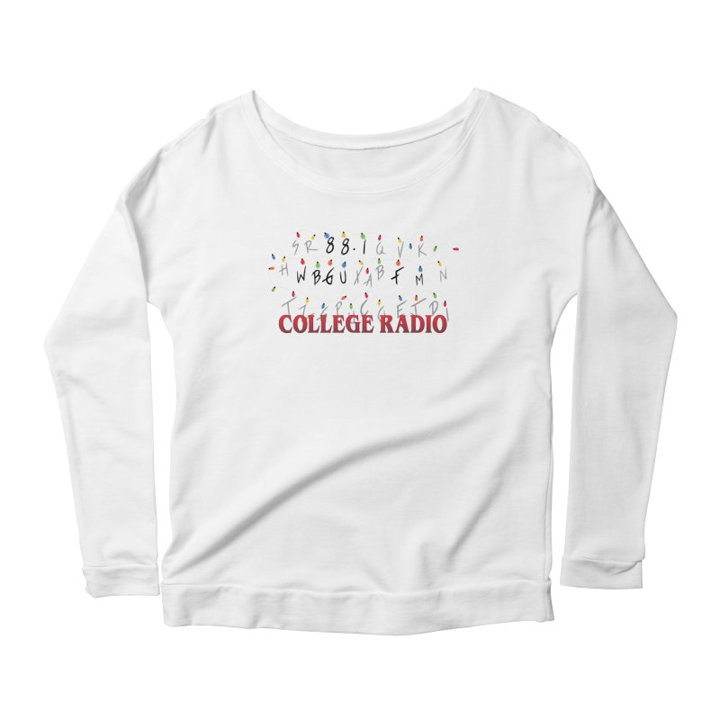Stranger Radio Women's Scoop Neck Longsleeve T-Shirt by WBGU-FM's Shop