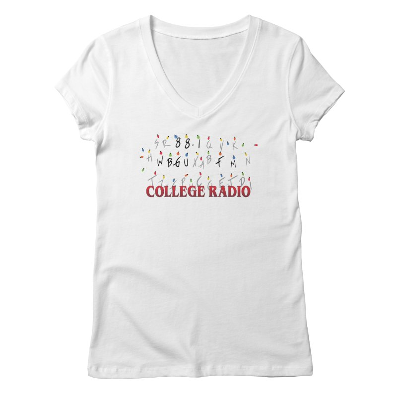 Stranger Radio Women's V-Neck by WBGU-FM's Shop