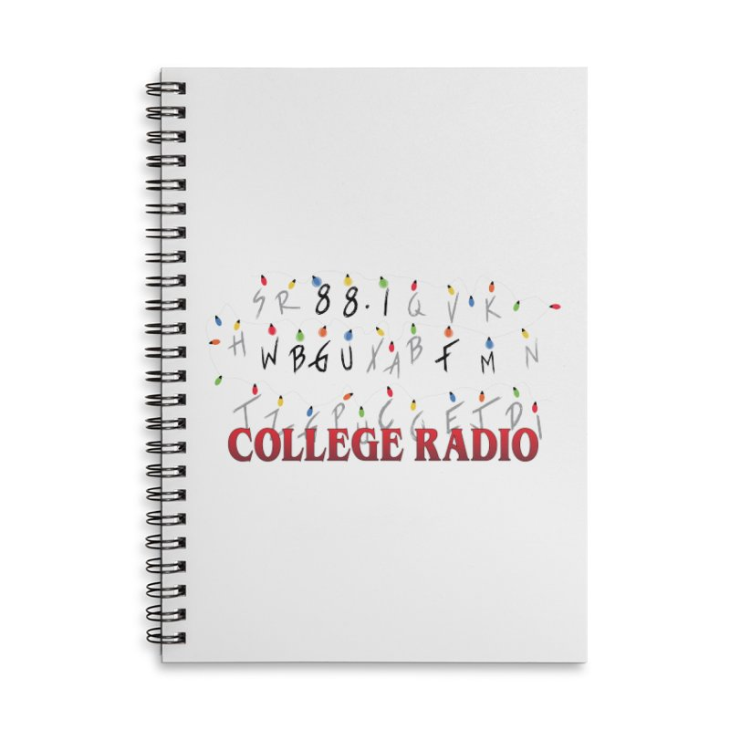 Stranger Radio Accessories Lined Spiral Notebook by WBGU-FM's Shop