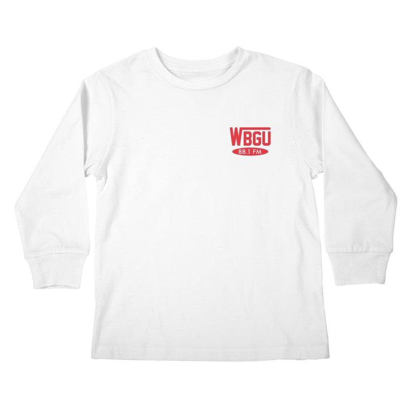 WBGU Chest Logo Kids Longsleeve T-Shirt by WBGU-FM's Shop