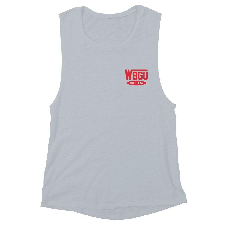 WBGU Chest Logo Women's Muscle Tank by WBGU-FM's Shop