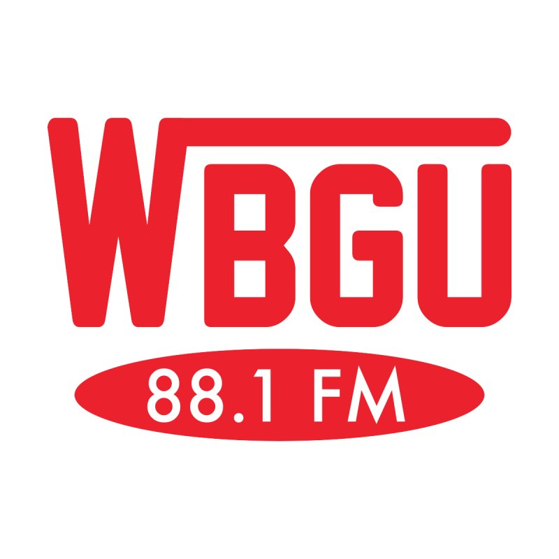 WBGU Red Logo Accessories Notebook by WBGU-FM's Shop