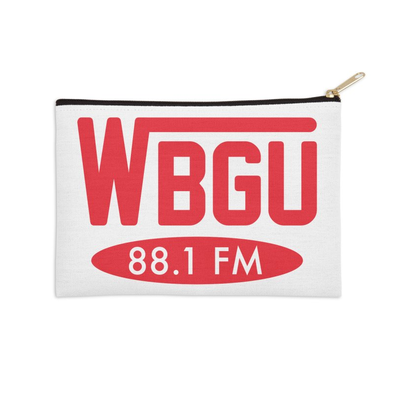 WBGU Red Logo Accessories Zip Pouch by WBGU-FM's Shop