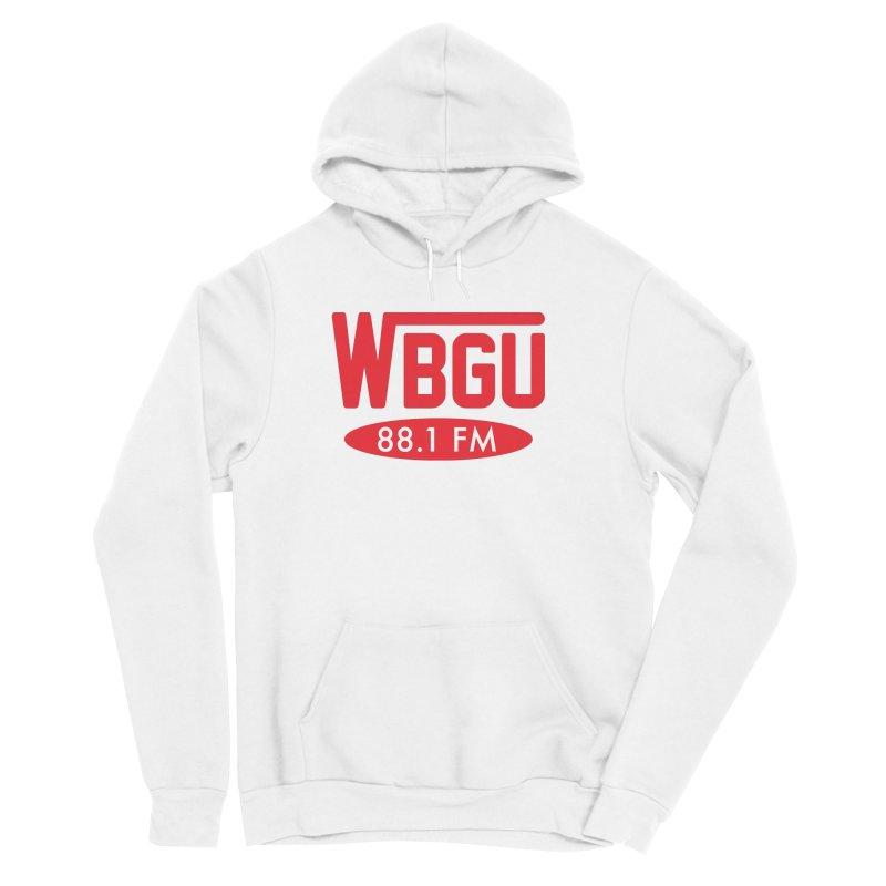 WBGU Red Logo Men's Sponge Fleece Pullover Hoody by WBGU-FM's Shop
