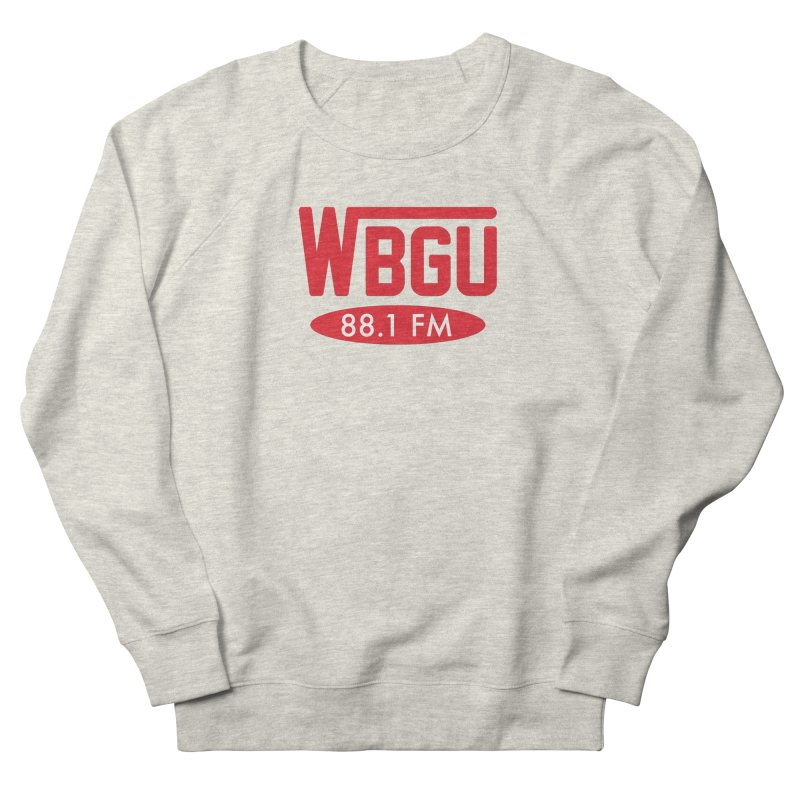 WBGU Red Logo Men's French Terry Sweatshirt by WBGU-FM's Shop