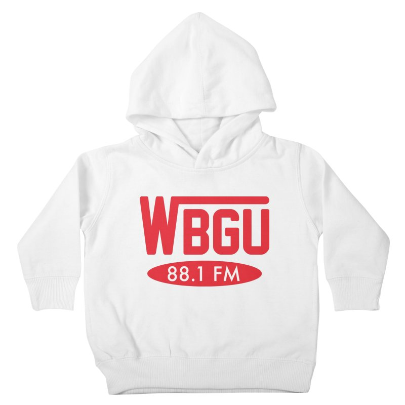 WBGU Red Logo Kids Toddler Pullover Hoody by WBGU-FM's Shop
