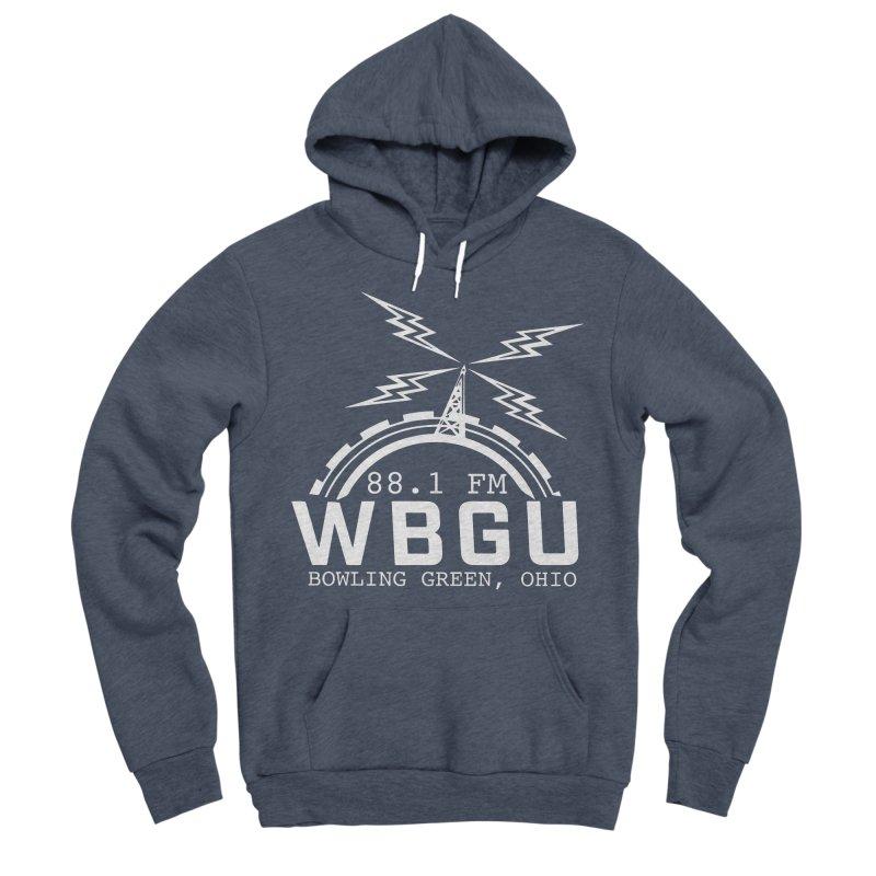 2018 Logo - White Men's Sponge Fleece Pullover Hoody by WBGU-FM's Shop