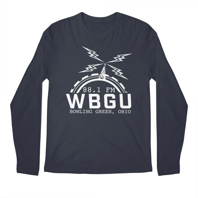 2018 Logo - White Men's Regular Longsleeve T-Shirt by WBGU-FM's Shop