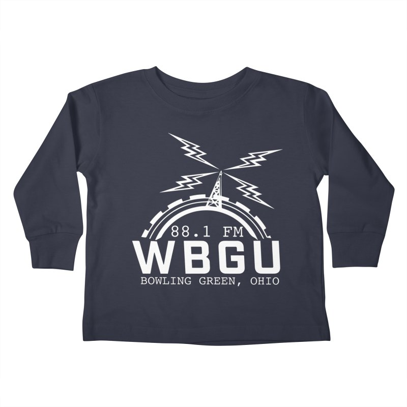2018 Logo - White Kids Toddler Longsleeve T-Shirt by WBGU-FM's Shop
