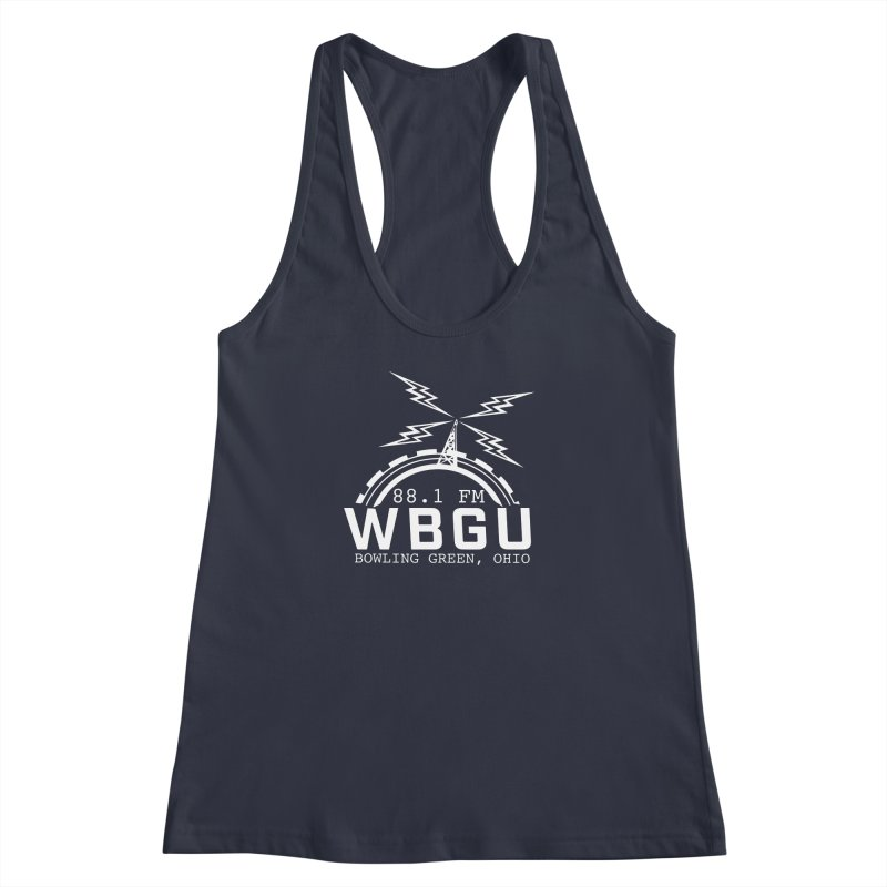 2018 Logo - White Women's Racerback Tank by WBGU-FM's Shop