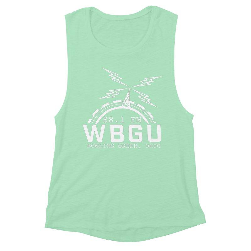 2018 Logo - White Women's Muscle Tank by WBGU-FM's Shop